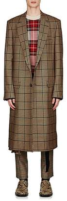 Dries Van Noten Men's Glen Plaid Wool-Blend Coat