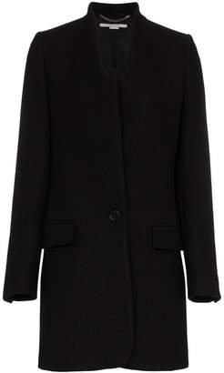Stella McCartney single breasted wool felt blazer