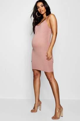 boohoo Maternity Strappy Bodycon Dress