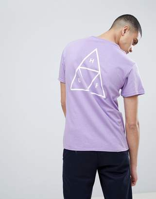 HUF T-Shirt With Triple Triangle Back Print In Lavendar