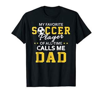 Mens My Favorite Soccer Player Calls Me Dad Soccer Dad Shirt