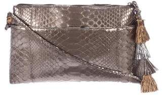 Carlos Falchi Small Metallic Python Crossbody Bag