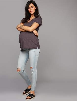 AG Jeans Secret Fit Belly Farrah Skinny Ankle Maternity Jeans