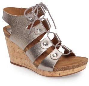 Women's Sofft Carita Lace-Up Wedge Sandal $109.95 thestylecure.com