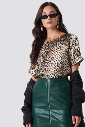 Rut & Circle Rut&Circle Leo frill sleeve tee Leopard
