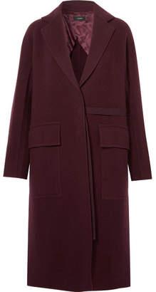 Joseph Silla Wool And Cashmere-blend Coat - Burgundy