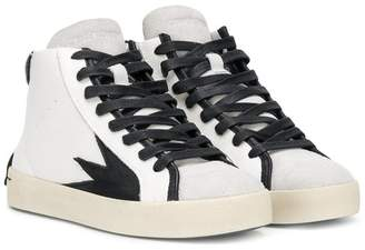 Crime London Kids lace-up high-top sneakers