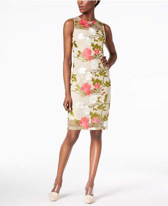 Calvin Klein Embroidered Mesh Dress, Regular & Petite Sizes