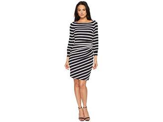 Lauren Ralph Lauren Kynara Tug Boat Stripe Matte Jersey Dress Women's Dress