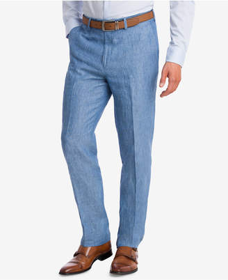 Bar III Closeout! Men's Slim-Fit Blue Chambray Suit Pants