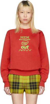 Balenciaga Red New Logo Sweatshirt