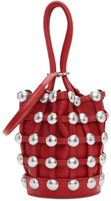 Alexander Wang Red Mini Roxy Cage Bucket Bag