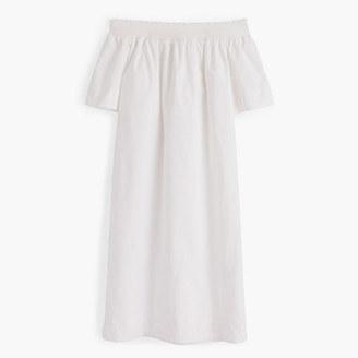 Off-the-shoulder dress in cotton poplin $118 thestylecure.com