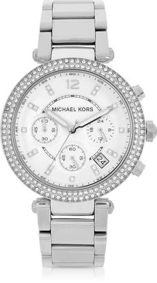 Michael Kors Parker Stainless Steel Chronograph Glitz Watch Women's Watch