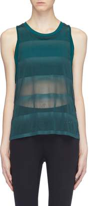 Particle Fever Sports bra underlay mesh tank top