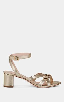 Loeffler Randall Women's Anny Leather Ankle-Strap Sandals - Gold