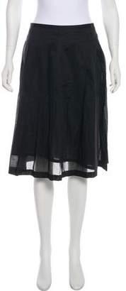 TSE Pleated Knee-Length Skirt