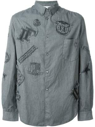 Golden Goose patched shirt