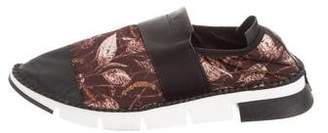 Cinzia Araia Mesh & Leather Low-Top Sneakers