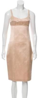 Michael Kors Sleeveless Knee-Length Dress Champagne Sleeveless Knee-Length Dress