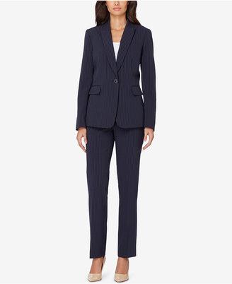 Tahari Asl Pinstriped Pantsuit $290 thestylecure.com