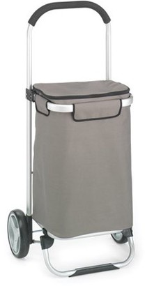 Homz European Tote Cart with Snap Lock Wheels, Grey