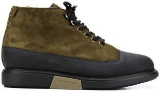 Emporio Armani contrast panels boots