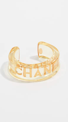 Chanel What Goes Around Comes Around Lucite Letters Cuff Bracelet