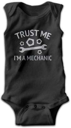 MPpka Trust Me I'm A Mechanic Toddler Sleeveless Bodysuit Onesies 3M