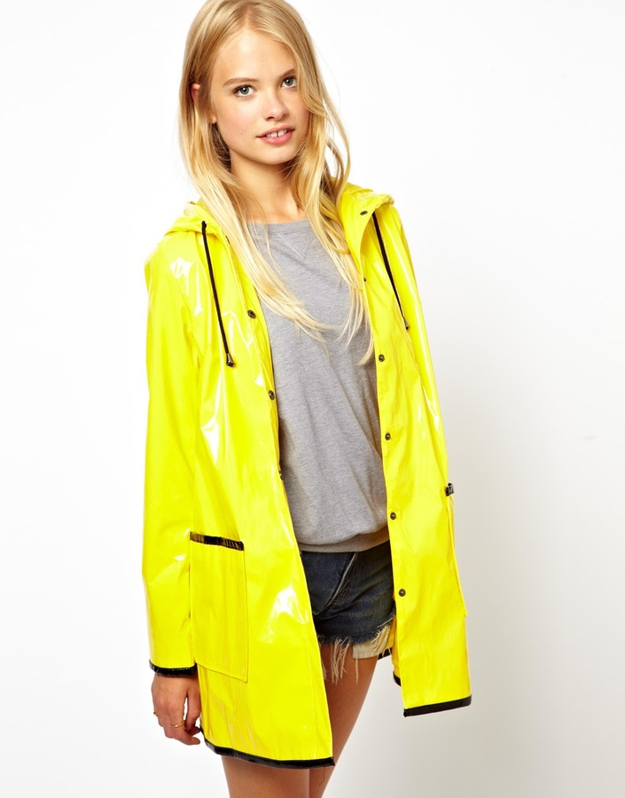 Asos Rain Trench With Ears