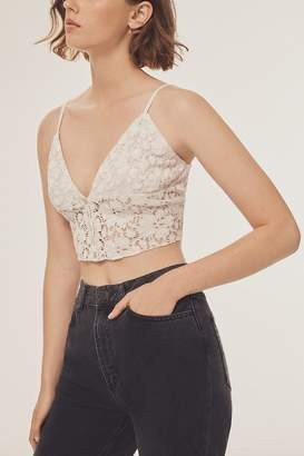 Urban Outfitters Bright Star Lace Button-Down Cami