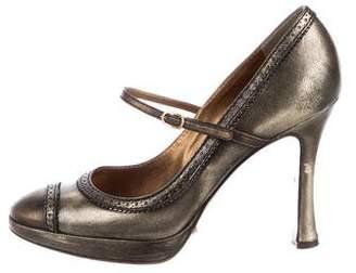 Dolce & Gabbana Metallic Mary Jane Pumps