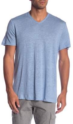 Vince Short Sleeve Linen V-Neck Tee