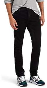 RtA MEN'S COATED SKINNY JEANS - BLACK SIZE 33