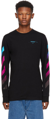 Off-White Black Diagonal Gradient Long Sleeve T-Shirt