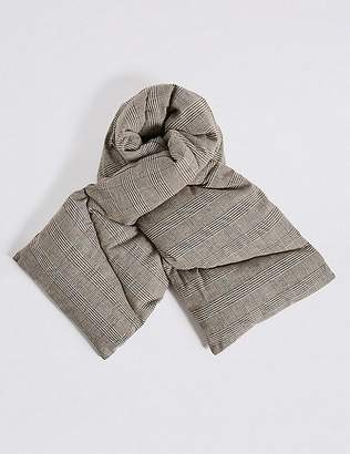 Marks and Spencer Cotton Rich Checked Puff Scarf