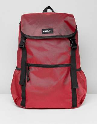 French Connection Nylon Backpack In Burgundy