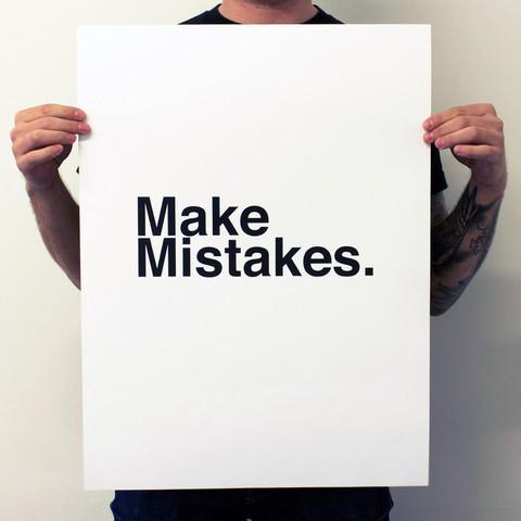 Fab Make Mistakes. White