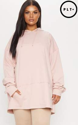 PrettyLittleThing Plus Dusty Pink Oversized Hoodie