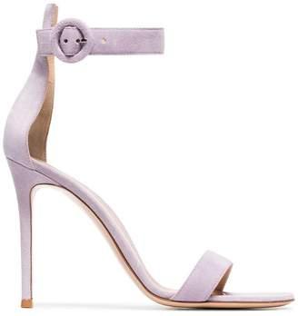 Gianvito Rossi lilac Portofino 105 suede sandals
