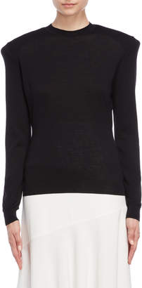 Jil Sander Wool Shoulder Pad Sweater