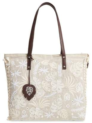 Tommy Bahama Belize Embroidered Canvas Tote