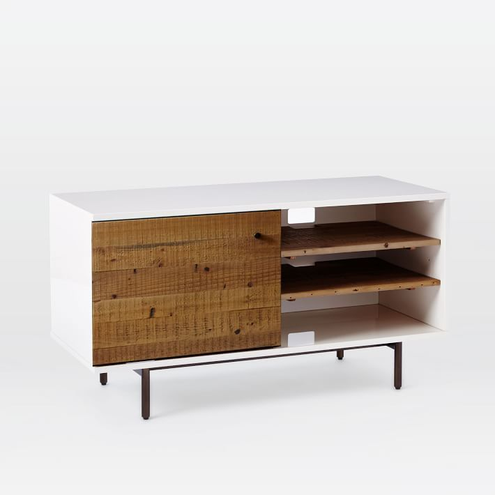 Reclaimed Wood + Lacquer Storage Short Media