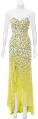 Terani Couture Embellished Strapless Gown w/ Tags