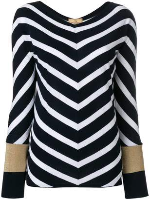 Fay chevron knit jumper