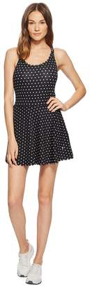 Kate Spade Athleisure Polka Dot Scallop Dress Women's Dress