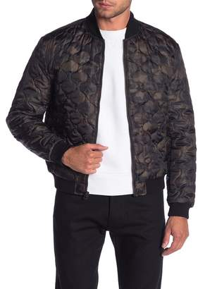 Lucky Brand Camouflage Quilted Bomber Jacket