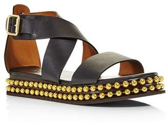 02d1fb34ae12df ... Chloé Women s Sawyer Studded Leather Platform Sandals