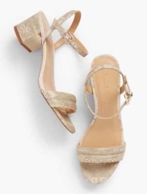 Talbots Mimi Luxe Exotic Block-Heel Sandals