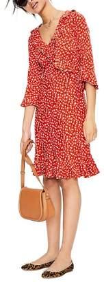 Boden Fluted Wrap Style Stretch Jersey Dress